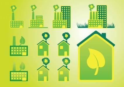 free vector Green Home