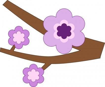 free vector Purple Flower