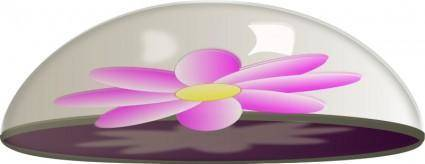 Flower in Glass Paper Weight
