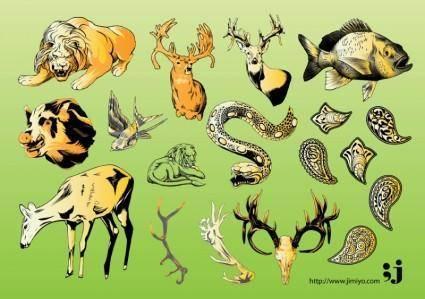 free vector Wildlife Vector Illustrations