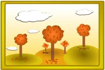 free vector Fall landscape 3