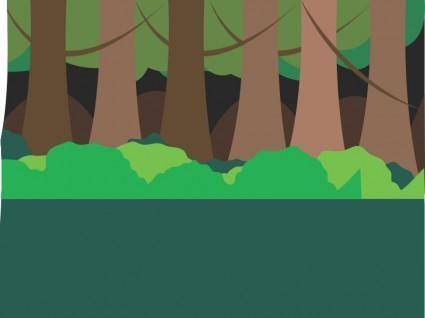 free vector Forest scene