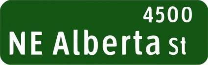 free vector Portland Oregon street name sign: NE Alberta St