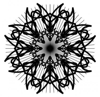 Black and white rosette 2