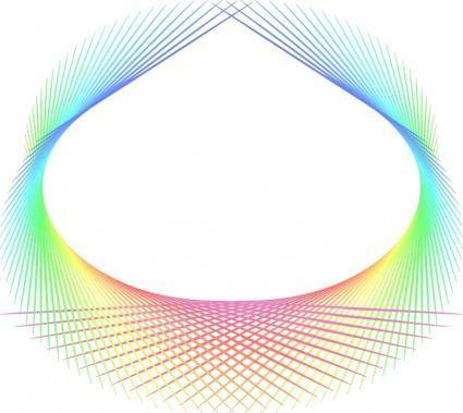 free vector Rainbow abstract element