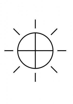 free vector Dacian solar symbol