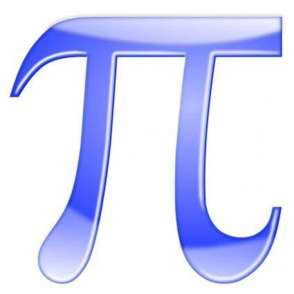 free vector PI, Shiny Blue