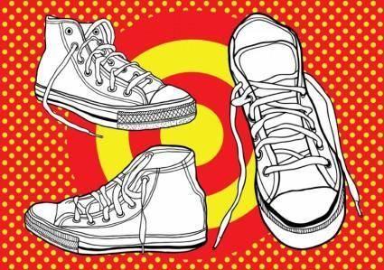 free vector Basketball Shoes