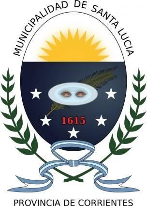 free vector Escudo de la Municipalidad de Santa Lucía