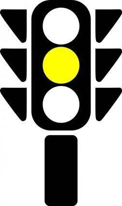 free vector Traffic semaphore yellow light