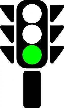 Traffic semaphore green light