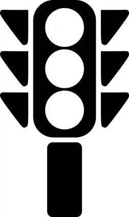 Traffic semaphore silhouette