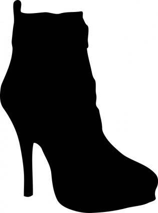 free vector Women shoe silhouette