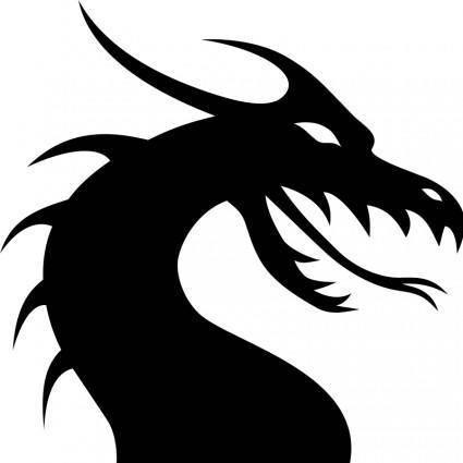 free vector Dragon head silhouette