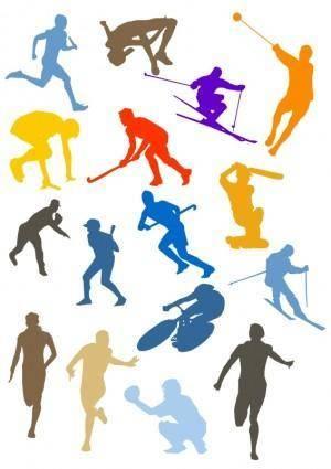 free vector Silhouette Sport Disciplines Set
