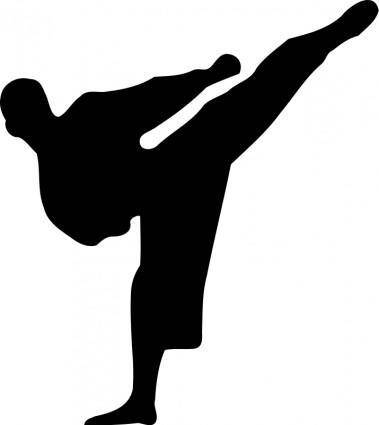 free vector Karate silhouette