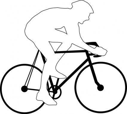 free vector Cyclist silhouette