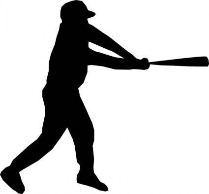 free vector Baseball player silhouette
