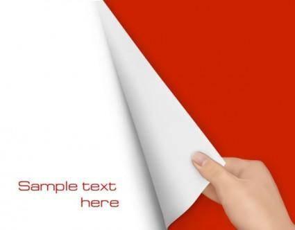 Blank paper 05 vector