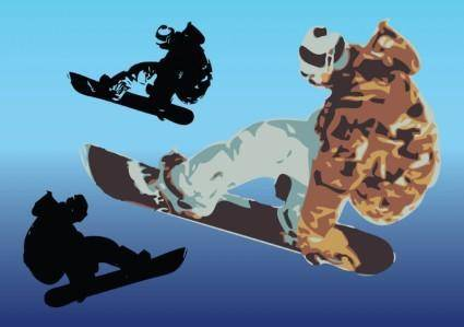 Snowboard Vector Art