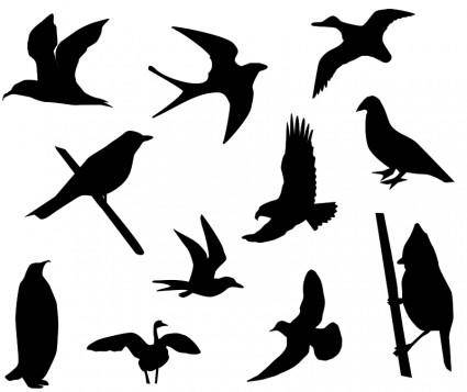 free vector Birds Silhouette