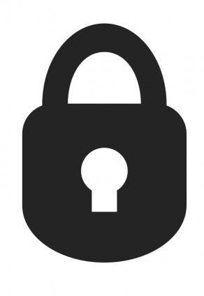 free vector Padlock Icon (Rounded)