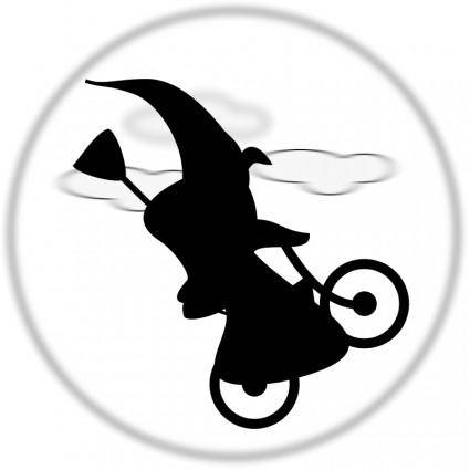 free vector WitchOnABicycle
