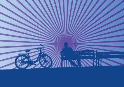 free vector Leisure Time Bicycling