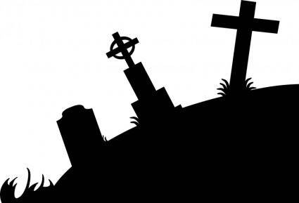free vector Graveyard Silhouette