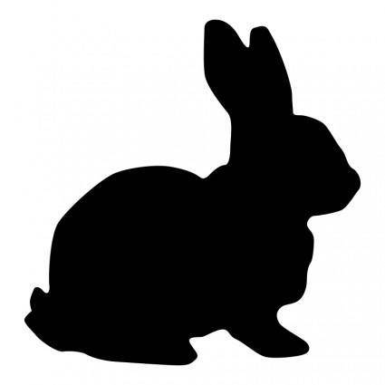 free vector Rabbit Silhouette