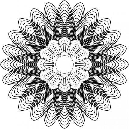 free vector Guilloche Rosette