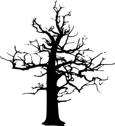 free vector Halloween Large Dead Tree