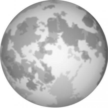 free vector Halloween Bright Full Moon