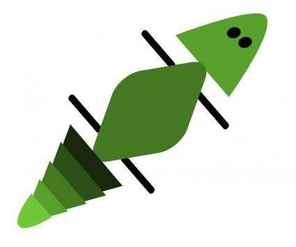free vector Gecko in green