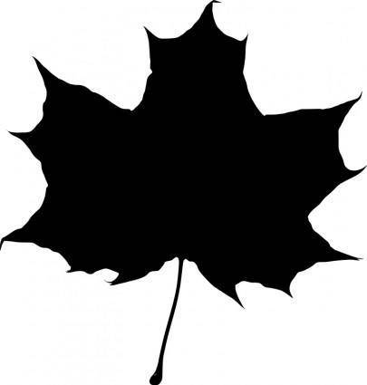 Maple leaf silhouette 2