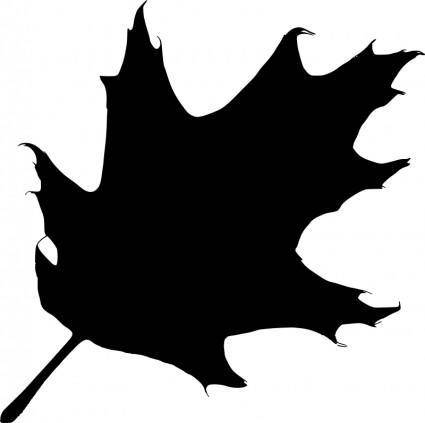free vector Oak leaf silhouette