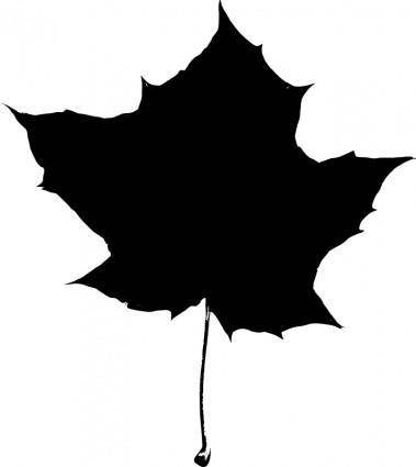 free vector Maple leaf silhouette