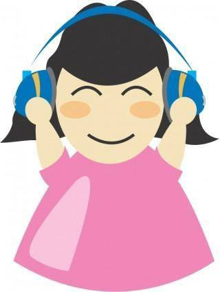 Girl with headphone2