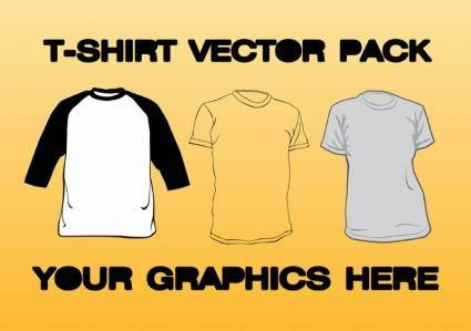 free vector T-shirt Vector Pack