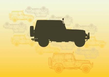 free vector Jeep Vectors