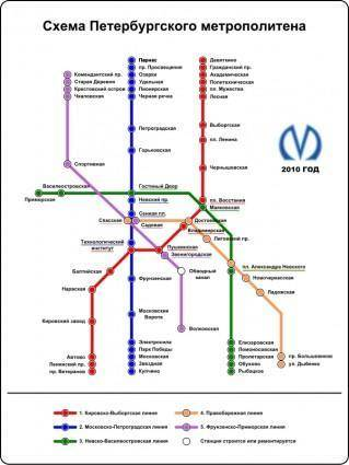 free vector Saint Petersburg Underground Railway Map