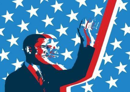 free vector Obama Grunge Vector