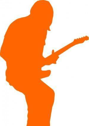 free vector Guitarist-rock