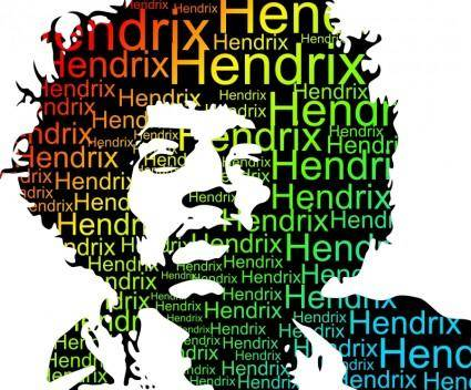 free vector Typed Color Hendrix Portrait