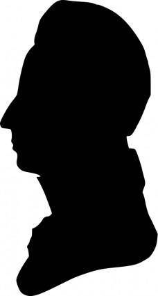 Silhouette of man facing left, no. 1