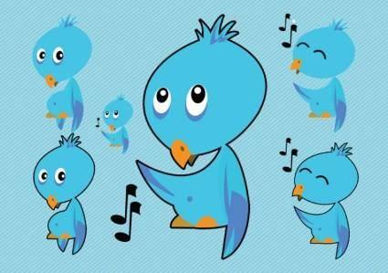 free vector Twitter Bird Vectors