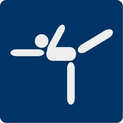 free vector Ice skating pictogram