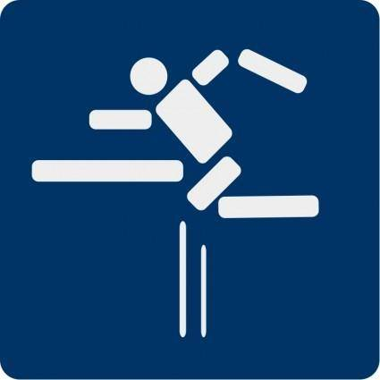 Fence jumping pictogram