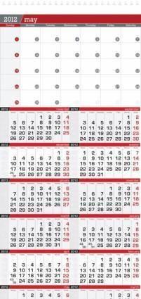 free vector 2012 calendar vector