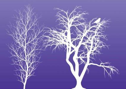 free vector Winter Trees